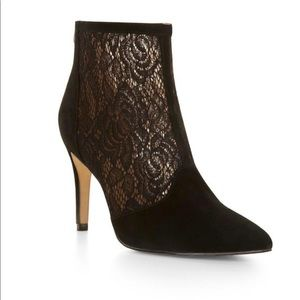 BCBGMAXAZRIA Black Lore High-heel Lace Boots